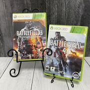 Lot Of 2 Xbox 360 Games Battlefield 3 Premium Edition And Battlefield 4