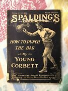 Vintage 1916 Spalding Boxing Book Young Corbett World Champion Punch Bag Boxer