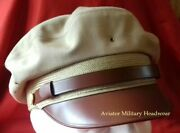 Repro Ww2 Usaaf Air Force Officer Crusher Cap Hat Flighter Style 100 Wool Khaki