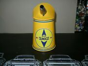 Nice Old Vintage Spout Oil Can Done In Sunoco Motor Oil Theme Restored