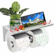 Gemitto Toilet Paper Holder Sus304 Stainless Steel Double Bathroom Paper Tiss...