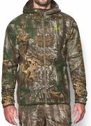 Men Under Armour Jacket Realtree Xtra Stealth Hoodie Camo Size Medium New