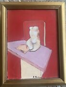 - Francis Bacon Painting Half Female Nude- Rare Series 1980s Signed Under Glass