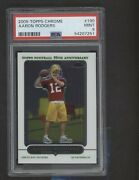 2005 Topps Chrome 190 Aaron Rodgers Green Bay Packers Rc Rookie Psa 9 Mint