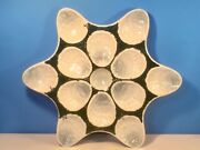 Oyster Plate  Antique Majolica Shucked Oyster Platter Tray Holds 12 Oysters