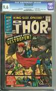 Thor Annual 2 Cgc 9.6 Ow/wh Pages // Stan Lee Story + Jack Kirby Art 1966