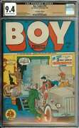 Boy Comics 28 Cgc 9.4 Ow/wh Pages // Woman Burned Alive Panels Lev Gleason 1946