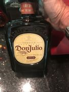 Large Don Julio Anejo Tequila 1.75l Empty Bottle -amber Glass With Cork