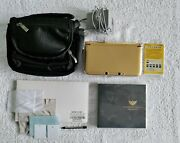 Nintendo 3ds Xl Gold Zelda Edition + 10 Games + Case + Charger + Accesories