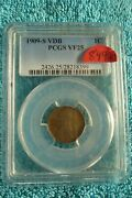 1909 S Vdb 1c One Cent Pcgs Certified And Graded Vf 25 Key Date Lincoln Cent