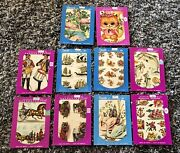 Mixed Lot Of 10 Nos 1960s Meyercord Swans, Ships, Flamingos, Flowers, Cars