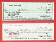 Stan Musial Check Signed Stanley St Louis Cardinals Not Stamped Over Name
