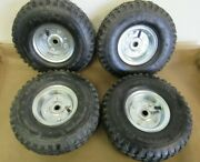 Go Kart Wheels Silver Rain Tires Durable Set Of Four Ships From Usa
