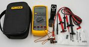 Fluke 87v Industrial Multimeter In Case With Leads In Great Condition