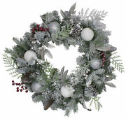 Northlight Frosted Cedar Berries Artificial Christmas Wreath - 24-inch Unlit