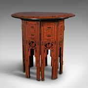 Antique Occasional Table, Oriental, Coffee, Lamp, Stand, Victorian, Circa 1850