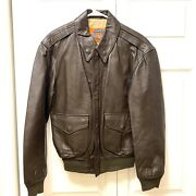 Cooper Type A-2 Brown Leather 50 Year Flight Usaf Bomber Jacket Men's Size 36r