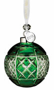 Waterford Crystal 2018 Emerald Ball Christmas Ornament 40032596