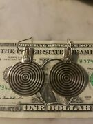 Dominique Dinouart Ddd Sterling Silver Modernist Circle Dangle Earrings Mexico