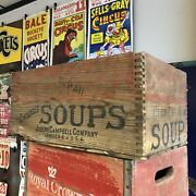 Vintage Antique Campbell's Soup Crate Clam Chowder - Very Rare