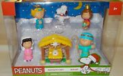 Peanuts Charlie Brown Christmas Nativity Set Snoopy Lucy Sally Manger 2021 New