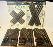Lot Of Lionel Train 027 Track 45° Crossing, 90° Crossing And 3 Manual Switches
