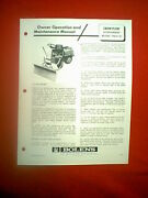 Bolens Frame Steer Tractor Snow Plow Attachment 19314-01 Ownerand039s Manual 11/68