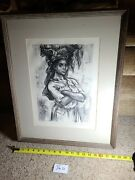 Carib Caryatid Picture Lithograph Sketch Marion Greenwood African Woman 36s1