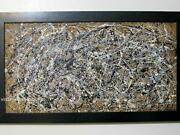 Jackson Pollock Abstract Modernist Drip-style Painting Signed Pollock And03948