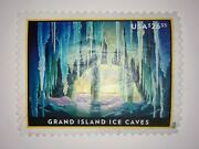 26.35 Grand Island Ice Caves 5430 Priority Mail Express Stamp 2020 | Used