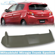 Paint Fit For Mitsubishi Mirage 6th Hatchback 4d Oe Type Rear Trunk Spoiler 2015