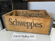 Rare Vintage Schweppes Wooden Crate Box Chicago Illinois Really Nice 697a