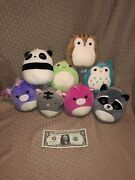 Large Lot Of 8 Assorted 5andrdquo Squishmallows Vgc Stanley Tally Stefana Danny Sawyer