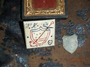 Civil War Period Lot. 9th Corps Neckerchief Slide Corps Badge And Printing Die