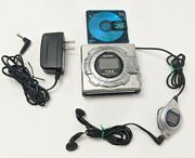 Vintage Sharp Md-ms722 Portable Minidisc Recorder Player Needs New Battery Test