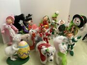 Annalee Collectible Doll Set 14 Christmas Fall Easter Halloween 2007-2018