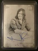 The Walking Dead Autographed Black Printing Plate Of Norman Reedus As Daryl 1/1