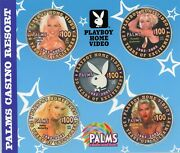 Palms Casino Playboy 100 Chip Set Of 5 Chips W/ Cd Case And Brochure Ltd. 250