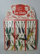 Vintage Novelty Lucky Charm Key Chain Knife Store Display