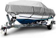 Budge 1200 Denier Boat Cover Fits 18and039-20and039 Long Beam Width Up To 106 Gray