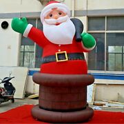 20ft Inflatable Santa Clause Giant Christmas Outdoor Decor With Air Blower