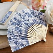 20-200 Elegant French Country Blue And White Design Fans Summer Wedding Favor