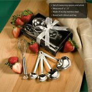 6-72 Heart Shaped Measuring Spoon And Whisk Sets - Wedding Shower Favors