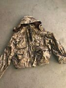 Vintage Herters Insulated Camo Duck Hunting Jacket Xxl With Hood Excellent