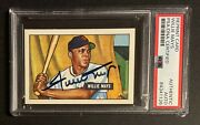 1951 Bowman Rookie Reprint Willie Mays Signed Card Psa A