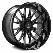 4 New 22x10 Axe Off Road Atlas Black Milled Wheels 6x5.5 6x139 Chevy 6x135 Ford