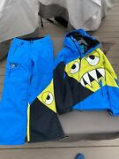 686 Snaggle Tooth Snowboard Jacket And Ski Pants Limited Edition 2 Piece Mens S