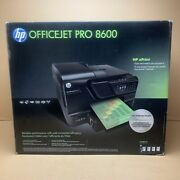 New Hp Officejet Pro 8600 E All In One Wireless Color Printer - Black Unopened