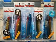 Mirrolure Lot Of 5 Surface Walker Lures For Inshore Predators With Tackle Box