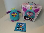 2012 Furby Teal/purple Hasbro Interactive Toy With Box Tested And Working